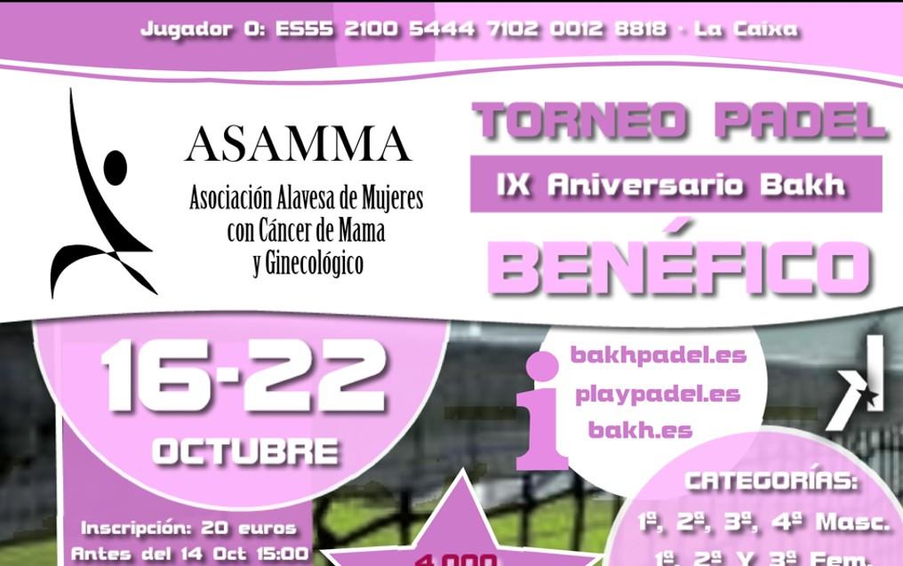 Torneo Benéfico ASAMMA - IX Aniversario Bakh